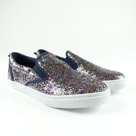 girls glitter slip on
